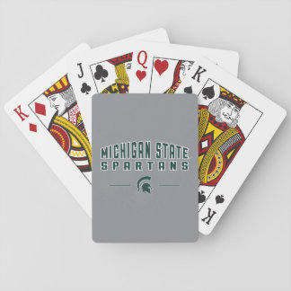 Staats-Universität 4 MSU Wimpel-| Michigan Spielkarten