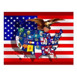 Staatsflagge USA Amerika Postkarten