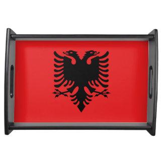 Staatsflagge von Albanien Serviertablett