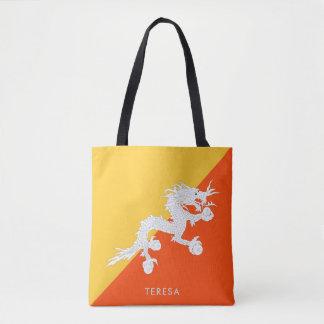 Staatsflagge von Bhutan mit Ihrem Namen Tasche