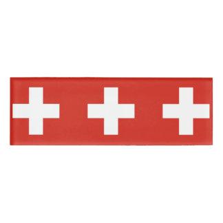 Staatsflagge von der Schweiz Namenschild
