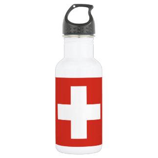 Staatsflagge von der Schweiz Trinkflasche