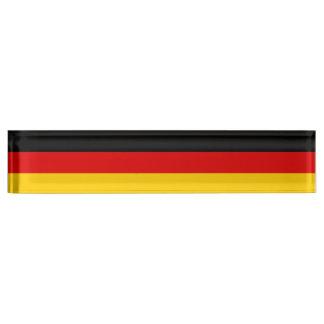 Staatsflagge von Deutschland Namensplakette