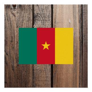 Staatsflagge von Kamerun Poster