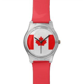 Staatsflagge von Kanada, Ahornblatt, hoch einzeln Armbanduhr