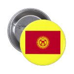 Staatsflagge von Kirgisistan Anstecknadelbutton