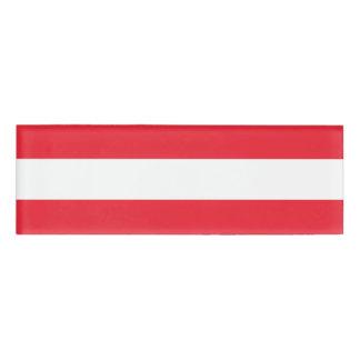 Staatsflagge von Österreich Namenschild
