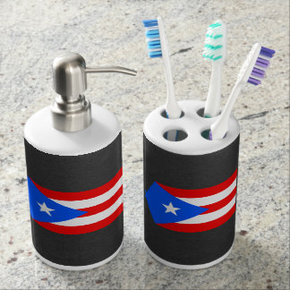 Staatsflagge von Puerto Rico Badezimmer-Set