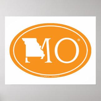 Staatsstolz-Euro: MO Missouri Poster