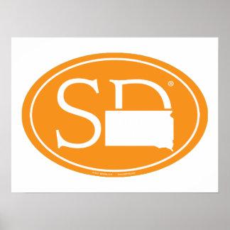 Staatsstolz-Euro: Sd South Dakota Poster