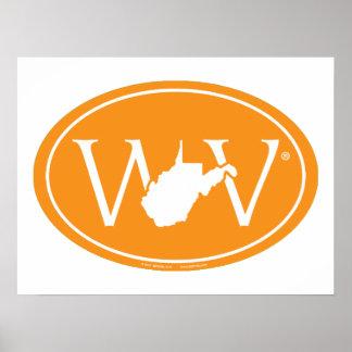 Staatsstolz-Euro: WV West Virginia Poster
