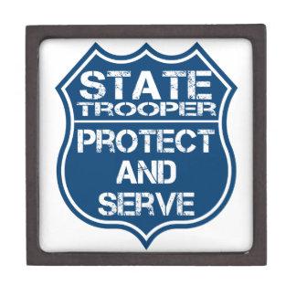 Staattrooper-Polizei-Abzeichen schützen sich und Schmuckkiste