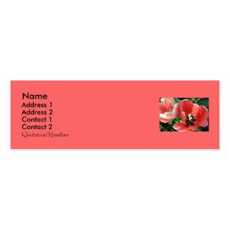 Staceys Blumenmusters Jumbo-Visitenkarten