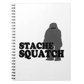 Stache Squatch Spiral Notizblock