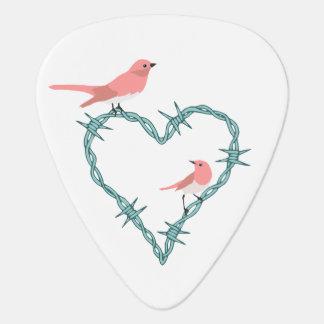Stacheldraht-Herz-Vögel Plektrum