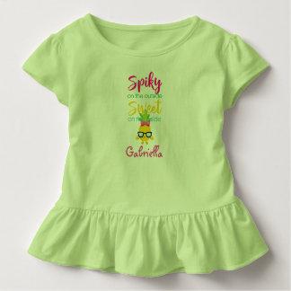 Stachelig auf dem Außenseiten-Bonbon-an Kleinkind T-shirt