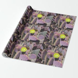 Stachelige Birne - lila Gelb Geschenkpapier
