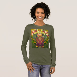 Stachelige Birnen-Kaktus-Foto-Kunst-langes Langarm T-Shirt