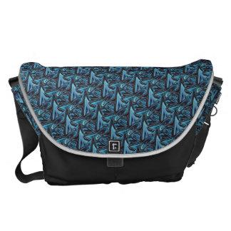 Stachelige blaue Sharkfin Bote-Tasche Kuriertaschen