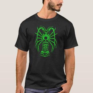 Stacheliger Hummer-Neon-Grün T-Shirt