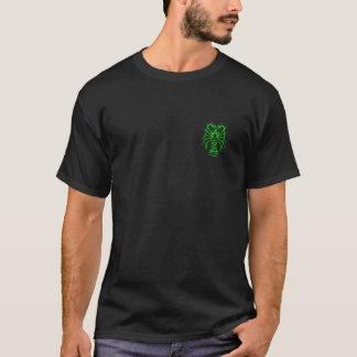 Stacheliger Hummer-Neongrün - hintere Eigenschaft T-Shirt