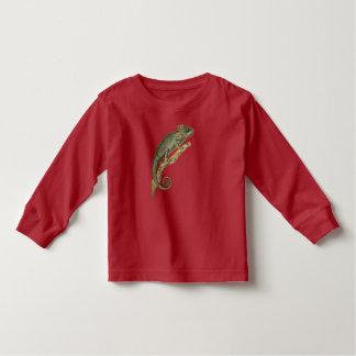 Stacheliges Chamäleon Lang-Hülse Kleinkind-T-Stück Kleinkind T-shirt