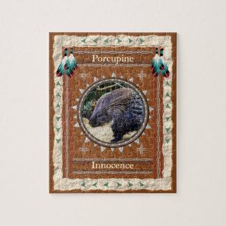 Stachelschwein - Unschulds-Puzzle mit Kasten Puzzle