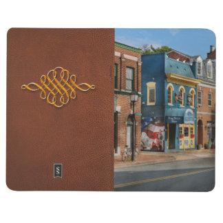 Stadt - Alexandria, VA - König Street Blues Taschennotizbuch