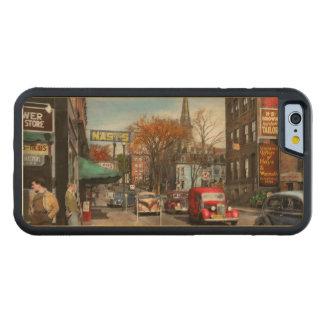 Stadt - Amsterdam NY - im Stadtzentrum gelegenes Bumper iPhone 6 Hülle Ahorn