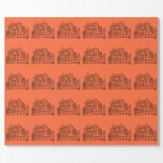 Stadt-Andenken-Orange Amsterdams niederländische Geschenkpapier