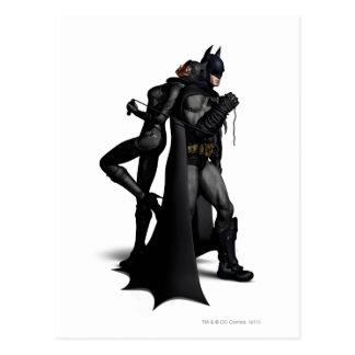 Stadt | Batman Batmans Arkham und Catwoman Postkarte