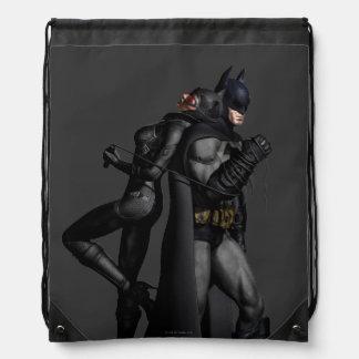 Stadt   Batman Batmans Arkham und Catwoman Sportbeutel