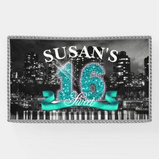 Stadt beleuchtet 16. Geburtstag aquamarines ID120 Banner