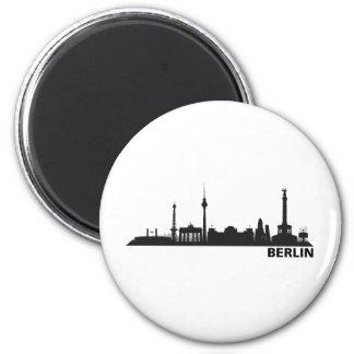 Stadt Berlin - Skyline 1c Runder Magnet 5,7 Cm