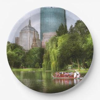 Stadt - Boston MA - allgemeiner Garten Bostons Pappteller