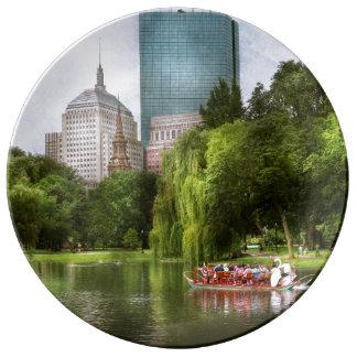 Stadt - Boston MA - allgemeiner Garten Bostons Porzellanteller