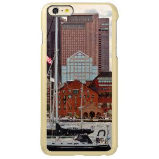 Stadt - Boston MA - Hafenweg-Skyline