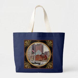 Stadt - Boston MA - Hafenweg-Skyline Jumbo Stoffbeutel