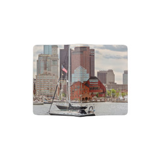 Stadt - Boston MA - Hafenweg-Skyline Passhülle