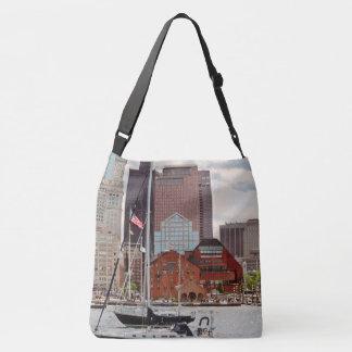 Stadt - Boston MA - Hafenweg-Skyline Tragetaschen Mit Langen Trägern