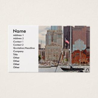 Stadt - Boston MA - Hafenweg-Skyline Visitenkarte