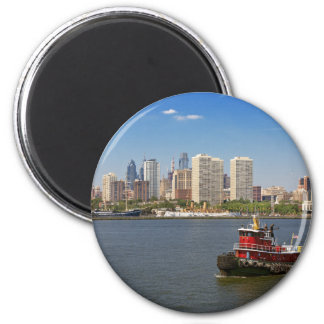 Stadt - Camden, NJ - die Stadt von Philadelphia Runder Magnet 5,7 Cm