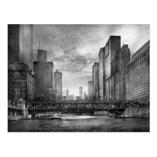 Stadt - Chicago, IL - blickend in Richtung Postkarte