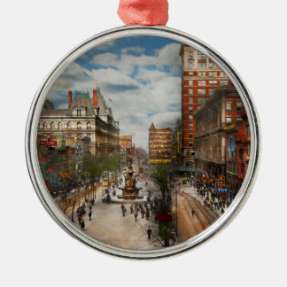 Stadt Cincinnati OH- - Tyler Davidson Brunnen 1907 Silbernes Ornament