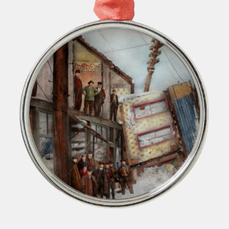 Stadt - Cleveland OH- - offenes Haus 1913 Silbernes Ornament