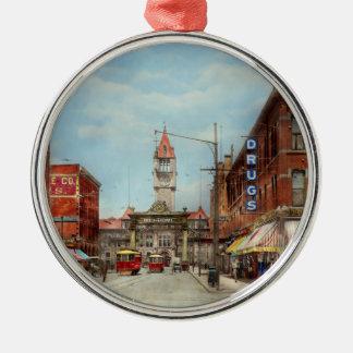 Stadt - Denver Colorado - begrüßen Sie nach Denver Rundes Silberfarbenes Ornament