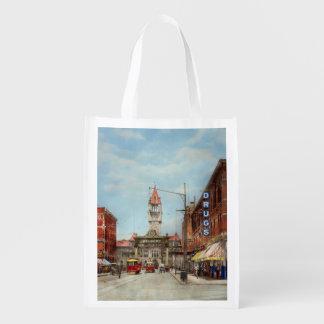 Stadt - Denver Colorado - begrüßen Sie nach Denver Wiederverwendbare Einkaufstasche