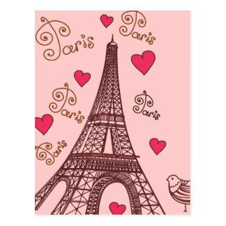 Stadt der Liebe Paris Postkarte