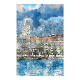 Stadt der Spalte in Kroatien Briefpapier