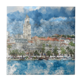 Stadt der Spalte in Kroatien Keramikfliese